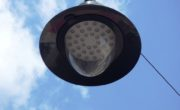 LED street light system with dome